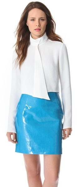 Thierry Mugler Cropped Button Blouse