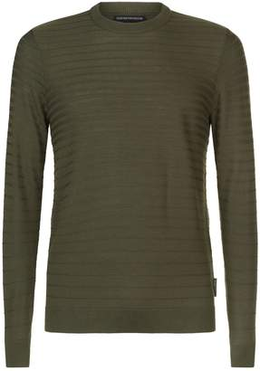 Emporio Armani Gradient Ribbed Sweater