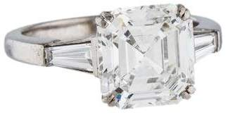 Platinum 3.24ct Diamond Engagement Ring