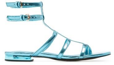 MANGO Metallic strappy sandals