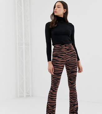 Asos Tall DESIGN Tall flare leggings in dark tiger print