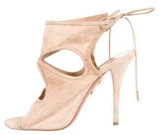Aquazzura Sexy Thing Lace-Up Sandals