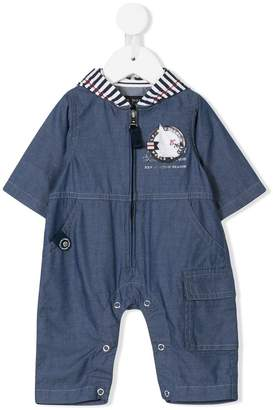 Lapin House hooded denim overall