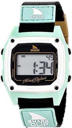 Freestyle (フリースタイル) - [フリースタイル]Freestyle 腕時計 SHARK クリップ デジタル 100m防水 ナイロンベルト ミント×ブラック 10014896 【正規輸入品】