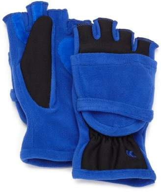 totes Women's Convertible Fingerless Gloves/Mittens by Isotoner (Navy)