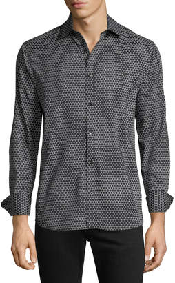 Karl Lagerfeld Paris Men's Large Dot-Print Sport Shirt