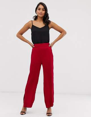 Closet London Closet wide leg pants with side splits