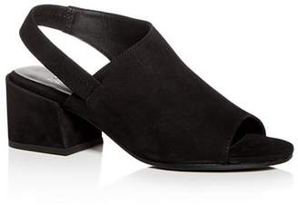 Eileen Fisher Women's Tumbled Nubuck Leather Slingback Block-Heel Sandals