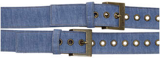 Diesel Red Tag Indigo Shayne Oliver Edition Denim Belt