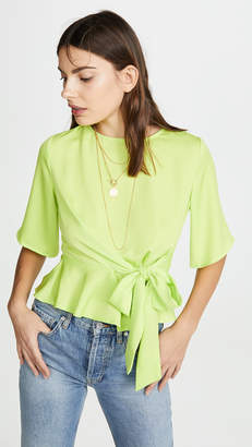J.o.a. Neon Green Yellow Blouse