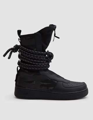 Nike SF Air Force 1 Hi Boot in Black/Black Dark Grey
