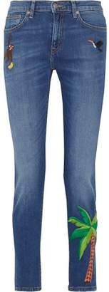 Mira Mikati Embroidered High-Rise Skinny Jeans