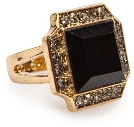 MANGO TOUCH - Square stone ring