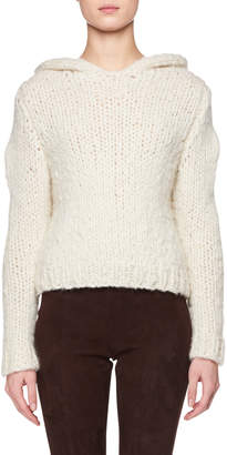 The Row Dreamy Hooded Chunky Cashmere Sweater
