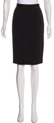Giorgio Armani Striped Pencil Skirt