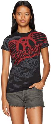 Liquid Blue Women's Aerosmith Walk This Way Long Length Juniors Graphic Tee