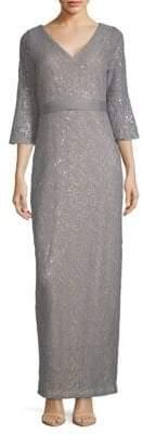 Calvin Klein Sequin Bell-Sleeve Dress