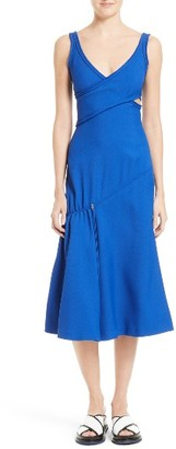 Women's Boss Demania Asymmetrical Drawstring Trumpet Dress $1,195 thestylecure.com