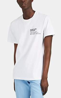 "Helmut Lang Men's ""Artforum Pride Flag"" Cotton T-Shirt - White"