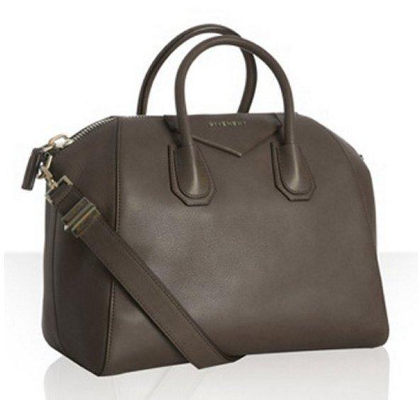 Givenchy charcoal calfskin 'Antigona' medium satchel