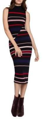 BCBGeneration Colorblocked Striped Sweater Dress
