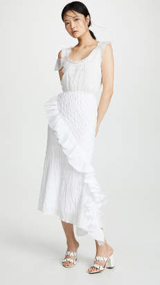 ANAÏS JOURDEN Layered Slip Dress with Ruffles