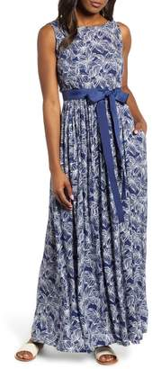 Vineyard Vines Plumeria Print Maxi Dress