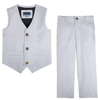 Infant Boy's Andy & Evan Oxford Vest & Pants Set $79 thestylecure.com