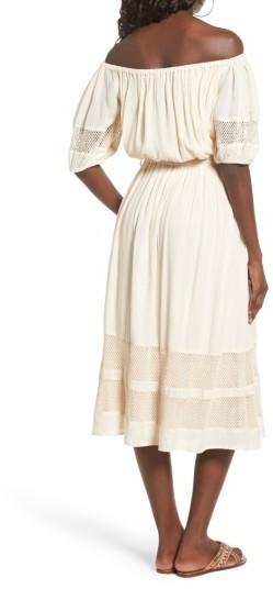Women's Tularosa Marty Off The Shoulder Midi Dress 3