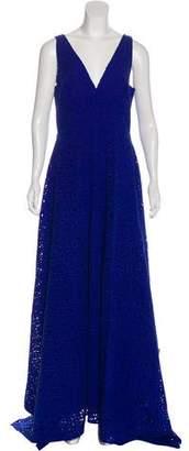Osman Eyelet Evening Dress w/ Tags