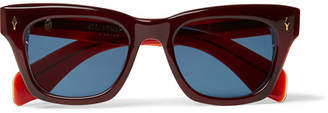 Jacques Marie Mage Dealan Square-Frame Acetate Sunglasses