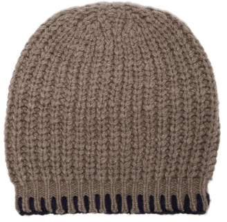 The Elder Statesman Cable Knit Cashmere Beanie Hat - Womens - Brown Multi