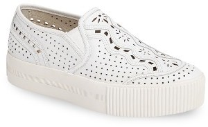 Women's Ash Kingston Perforated Platform Sneaker $214.95 thestylecure.com