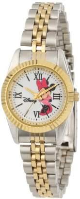 EWatchFactory Disney Women's W000575 Minnie Mouse Two-Tone Status Watch