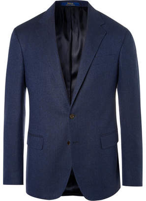 Polo Ralph Lauren Navy Polo 1 Herringbone Mulberry Silk Blazer