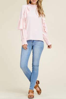 Solution Pink Ruffle Top