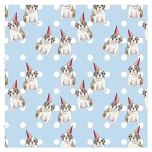 Bulldog Birthday Self-Launch Wrapping Paper