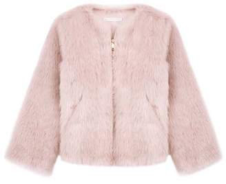 Mint Velvet Blush Faux Fur Short Jacket