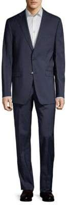Calvin Klein Slim-Fit Stripe Wool Suit