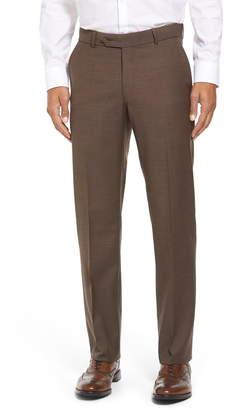 Ballin BallinClassic Fit Flat Front Sharkskin Wool Trousers