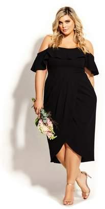 City Chic Citychic Flirtation Dress - black