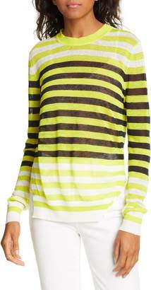 Diane von Furstenberg Kayla Stripe Stretch Linen Sweater