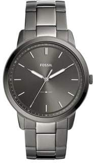 Fossil The Minimalist Three-Hand Smoke Stainless Steel Watch