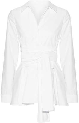 Co - Cotton-sateen Blouse - White $465 thestylecure.com