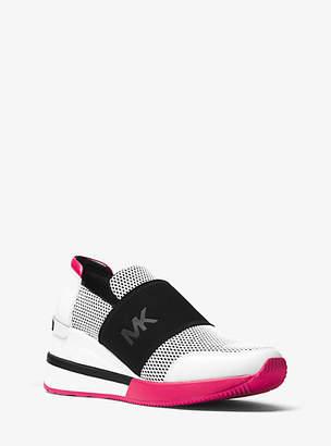 Michael Kors Felix Scuba And Leather Sneaker
