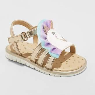 Cat & Jack Toddler Girls' Kailey Unicorn Slide Sandals Gold