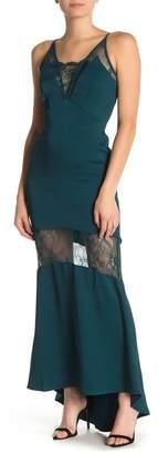 Adelyn Rae Laila Woven Maxi Slip Dress