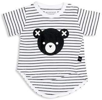 Huxbaby Unisex Striped Asymmetrical Bear Tee - Baby