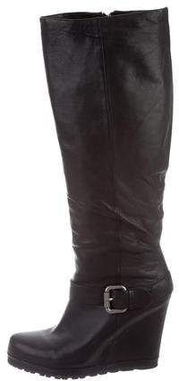 Vera Wang Lavender Label Knee-High Wedge Boots