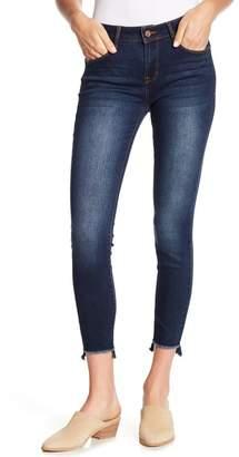 Kensie Step Hem Skinny Jeans